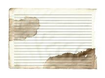 Παλαιό έγγραφο με το υπόβαθρο γραμμών Στοκ Εικόνες