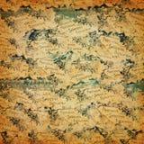 Παλαιό έγγραφο με ephemera στοκ εικόνα