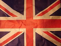 Παλαιό έγγραφο σημαιών της Αγγλίας Στοκ Εικόνες