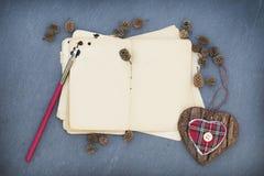 Παλαιό έγγραφο σημειώσεων Στοκ φωτογραφία με δικαίωμα ελεύθερης χρήσης