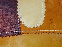 Παλαιό δέρμα χειροποίητο Στοκ Φωτογραφίες
