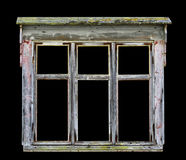 Παλαιό αγροτικό ξύλινο πλαίσιο παραθύρων Στοκ Φωτογραφία