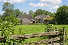 Παλαιό αγρόκτημα στον ανατολικό Καναδά Στοκ Εικόνες