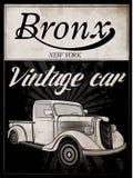 Παλαιό αμερικανικό γραφικό σχέδιο μπλουζών ατόμων αυτοκινήτων εκλεκτής ποιότητας κλασικό αναδρομικό Στοκ Εικόνες