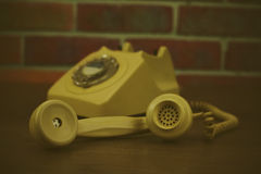 Παλαιό αναδρομικό περιστροφικό τηλέφωνο ύφους Στοκ φωτογραφία με δικαίωμα ελεύθερης χρήσης
