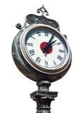 Παλαιό αναδρομικό ρολόι οδών που απομονώνεται Στοκ εικόνες με δικαίωμα ελεύθερης χρήσης