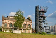 Παλαιό ανθρακωρυχείο σε Katowice Στοκ Εικόνες