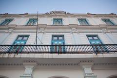 Παλαιό αποικιακό κτήριο στην Αβάνα Vieja Κούβα Στοκ Εικόνα