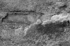 Παλαιό ασβεστοκονίαμα τσιμέντου και παλαιό τούβλο Στοκ φωτογραφία με δικαίωμα ελεύθερης χρήσης