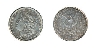 Παλαιό ασημένιο δολάριο Στοκ Εικόνες