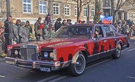 Παλαιό αυτοκίνητο σε μια οδό Στοκ φωτογραφίες με δικαίωμα ελεύθερης χρήσης
