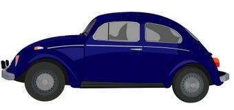 Παλαιό αυτοκίνητο στην μπλε πλευρική επέκταση Στοκ φωτογραφίες με δικαίωμα ελεύθερης χρήσης