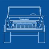Παλαιό αυτοκίνητο τετράτροχης κίνησης Στοκ εικόνα με δικαίωμα ελεύθερης χρήσης