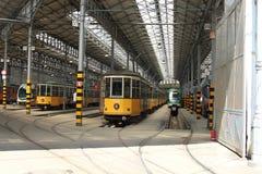 Παλαιό αυτοκίνητο τραμ στο Μιλάνο Στοκ Φωτογραφίες