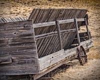 Παλαιό βαγόνι εμπορευμάτων σανού Στοκ Φωτογραφίες