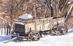 Παλαιό βαγόνι εμπορευμάτων το χειμώνα Στοκ φωτογραφία με δικαίωμα ελεύθερης χρήσης