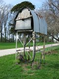 Παλαιό βαρέλι αερίου στο αγρόκτημα Στοκ Εικόνες