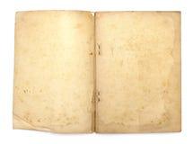 Παλαιό βιβλίο με τις κενές κίτρινες λεκιασμένες σελίδες Στοκ φωτογραφία με δικαίωμα ελεύθερης χρήσης