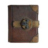 Παλαιό βιβλίο την κλειδαριά που απομονώνεται με στο λευκό Στοκ Εικόνες