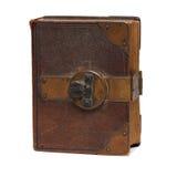Παλαιό βιβλίο την κλειδαριά που απομονώνεται με στο λευκό Στοκ φωτογραφία με δικαίωμα ελεύθερης χρήσης