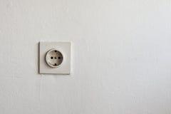 Παλαιό βούλωμα στον άσπρο τοίχο Στοκ εικόνα με δικαίωμα ελεύθερης χρήσης