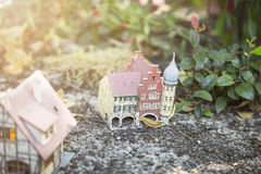 Παλαιό βρώμικο πρότυπο σπίτι Στοκ Φωτογραφίες