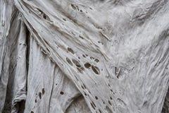 Παλαιό βρώμικο σχισμένο κουρέλι, σύσταση κουρελιών, κάθετη στοκ εικόνες