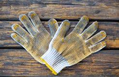 Παλαιό γάντι εργασίας βαμβακιού Στοκ Εικόνες