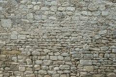 Παλαιό γκρίζο υπόβαθρο σύστασης τοίχων πετρών Στοκ φωτογραφία με δικαίωμα ελεύθερης χρήσης