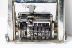 Παλαιό γραμματόσημο ημερομηνίας Στοκ Φωτογραφία