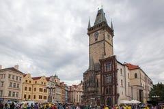Παλαιό Δημαρχείο με το αστρονομικό ρολόι Πράγα Στοκ Φωτογραφίες