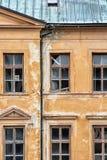 Παλαιό εγκαταλειμμένο σπίτι σε Banska Stiavnica, Σλοβακία, αρχιτεκτονική Στοκ Φωτογραφίες