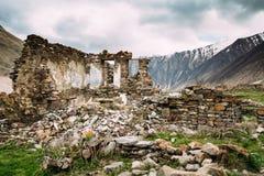 Παλαιό εγκαταλειμμένο χωριό με τα σπίτια σε Ketrisi Στοκ εικόνα με δικαίωμα ελεύθερης χρήσης