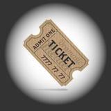 Παλαιό εισιτήριο teathre στο φως προβολέων ελεύθερη απεικόνιση δικαιώματος