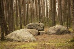 Παλαιό ειδωλολατρικό ρολόι φεγγαριών που γίνεται από τις πέτρες Στοκ φωτογραφίες με δικαίωμα ελεύθερης χρήσης