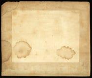 Παλαιό λεκιασμένο υπόβαθρο σύστασης εγγράφου Στοκ Εικόνες