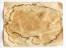 Παλαιό λεκιασμένο φύλλο του εγγράφου Στοκ Εικόνα