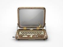 Παλαιό εκλεκτής ποιότητας εικονίδιο lap-top Στοκ Φωτογραφία