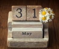 Παλαιό εκλεκτής ποιότητας ημερολόγιο που παρουσιάζει την ημερομηνία 31$ος του Μαΐου Στοκ φωτογραφίες με δικαίωμα ελεύθερης χρήσης