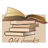 Παλαιό εκλεκτής ποιότητας διάνυσμα βιβλίων Στοκ Εικόνες
