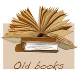 Παλαιό εκλεκτής ποιότητας διάνυσμα βιβλίων Στοκ Φωτογραφία