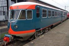 Παλαιό εκλεκτής ποιότητας ολλανδικό ηλεκτρικό τραίνο DE1 - Blauwe Engel Στοκ Εικόνες