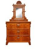 Παλαιό εκλεκτής ποιότητας παλαιό στήθος των συρταριών, με έναν καθρέφτη Στοκ φωτογραφία με δικαίωμα ελεύθερης χρήσης