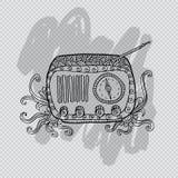 Παλαιό εκλεκτής ποιότητας ραδιόφωνο μόδας Στοκ Φωτογραφίες