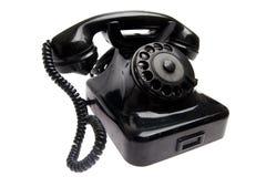 Παλαιό εκλεκτής ποιότητας τηλέφωνο που απομονώνεται Στοκ Φωτογραφίες