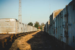Παλαιό εκλεκτής ποιότητας ύφος σταθμών τρένου Στοκ Εικόνες