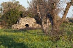 Παλαιό εξοχικό σπίτι σε Salento στοκ εικόνες