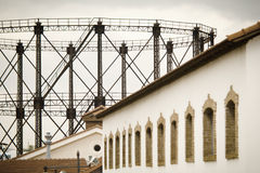 Παλαιό εργοστάσιο αερίου Στοκ Φωτογραφία