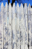 παλαιό λευκό στύλων φραγώ&nu Στοκ εικόνα με δικαίωμα ελεύθερης χρήσης