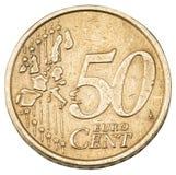 Παλαιό ευρο- νόμισμα πενήντα σεντ Στοκ φωτογραφίες με δικαίωμα ελεύθερης χρήσης